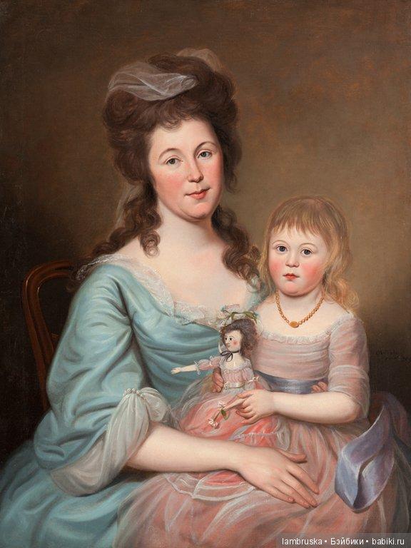 1788, Чарльз Уилсон Пиль ,Луиза Эйри Гилмор c дочерью