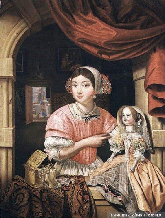 1690, Эверт Эдваерт,молодая женщины с куклой