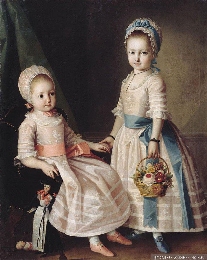 1772 ,Карл-Людвиг Христинек, две сестры