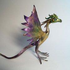 Пурпурно золотой  дракончик