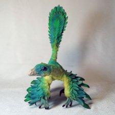 Птенец динозавра, авторская игрушка своими руками