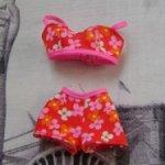 Комплект  в цветок (шорты и топ) маттел для Барби