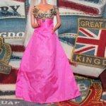 Платье  розово-золотое mattel для Барби