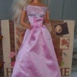 Платье  длинное розовое mattel для Барби
