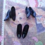 Черные туфли на ножку Барби 80-х