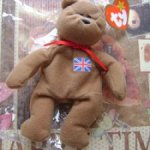 Медведик с флагом UK  для кукол 40 см +