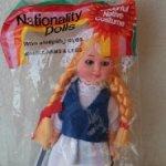 Винтажная сувенирная кукла в нац. костюме - Финляндия (70-е-80-е)
