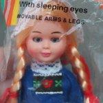 Винтажная сувенирная кукла в нац. костюме - Голландия (70-е-80-е)