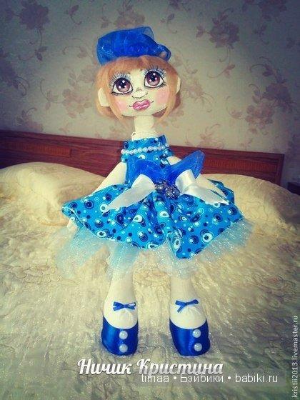 Кукла ручной работы по имени Катюша, эта модница собралась на бал!