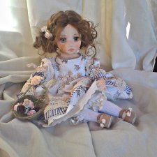 Текстильная кукла Николь