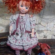 Пеппи. Текстильная кукла. Душа, завернутая в ткань