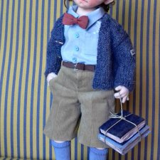 Интеллектуал Даниэль. Текстильная кукла