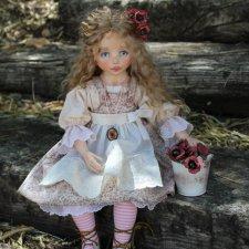 Девочка с маками. Текстильная кукла - душа, завернутая в ткань