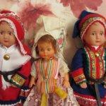 Три куколки-пупсика в национальной одежде.Рост 20,17,20