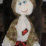 Садовая кукла-пугало. Текстильная кукла ручной работы