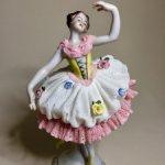 Изящная кружевная балерина . Винтаж. Германия .