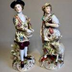 До 10 мая -скидка 15 %  Парные  антикварные статуэтки . Volkstedt.
