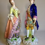 Роскошные парные антикварные статуэтки . Англия .