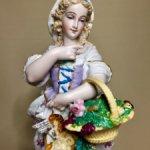 До 10 мая -скидка 15 %  Роскошная крупная Статуэтка из бисквитного фарфора . 36 см!!! Франция .