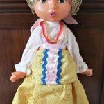 Кукла Несмеяна, Бровки домиком, 36 см, Ленигрушка, кл. *мишка*, СССР, 60-е. Редкий образ!