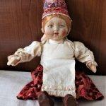 """Кукла русская антикварная! """"Девушка в высоком кокошнике. Артель на экспорт! Редкость!"""