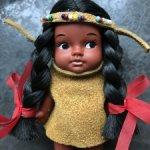Винтажная маленькая куколка индеец ГДР 9 см