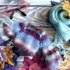 Полосатый свитер и мятный шарф для кукол типа Барби/Barbie, Интегрити/Integrity