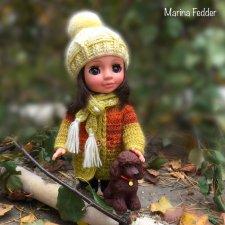 Осенняя Ася в новой шапочке (описание вязания)