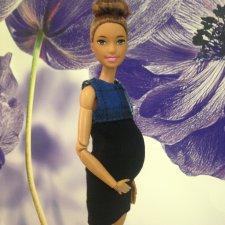 Накладной беременный живот для барби йог+платье.
