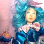Девочка с голубыми волосами, авторская кукла IraKALI