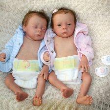 Julie & Mavie by Evelina Wosnjuk, Reborn by Jenny Gall, Куклы Реборн Дженни Галль