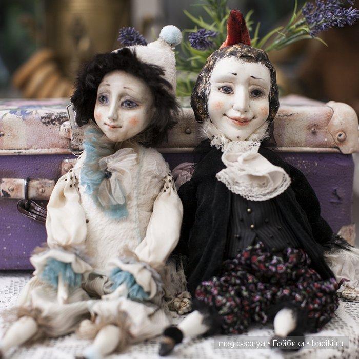 Ольга Боро, балаганная кукла, подвижная кукла, авторская кукла, ООАК