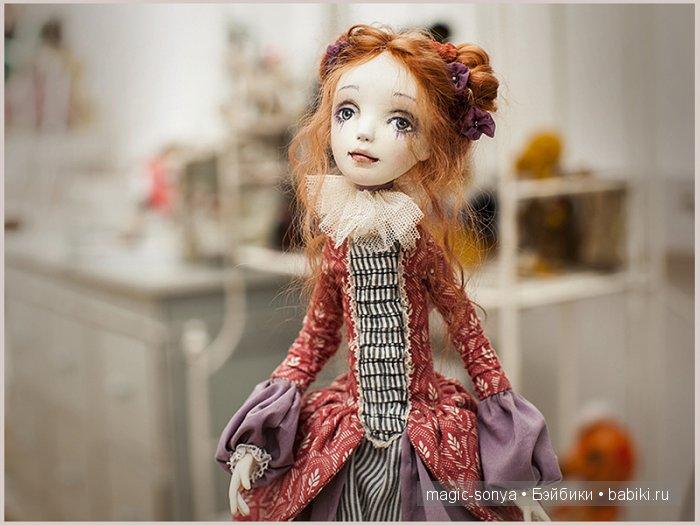 коломбина, Татьяна Симукова ,авторская кукла, ООАК