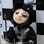 Авторская кукла Пешка, маленький солдат