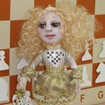Авторская кукла Мечтательница - белая пешка