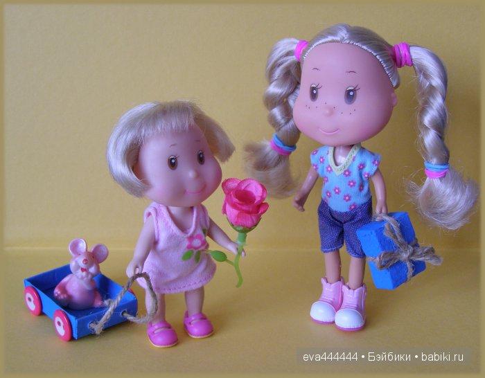 мини-куклы, маленькие куклы, маленькие куколки, мир Рози, Рози, Эви, Rosie's World, ELC, игровой набор, набор с куклами