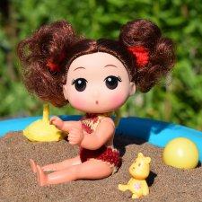 Из жизни маленькой Букашки. Небольшая переделка куколки-Кудряшки, а также незабываемые дачные приключения