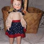кукла Катя, СССР, тканевая, уникальная, с ценником