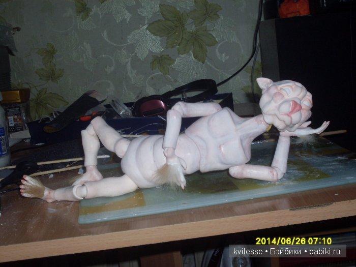 Кпишт, кукла, шарнирная кукла, кукла из паперклея