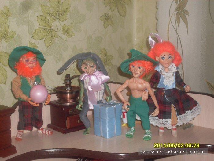 Эльфы и прочие волшебные твари, ирландские рыжие эльфы, тролль в костюме зайца