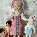 Продам куклу СССР Загоряночку,паричковая.