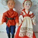 Продам лотом двух сувенирных кукол Иван да Марья.