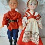 Продам лотом двух сувенирных кукол.
