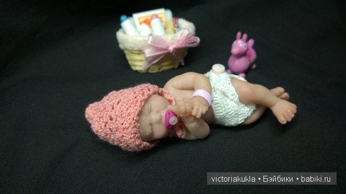 авторская кукла Ева 8 см. ООАК Вихаревой Виктории