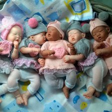 Infants of polyurethane 5 in by Victoria Vihareva-Pechenkina
