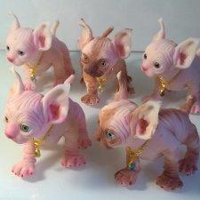 Silicone kittens by Victoria Vihareva-Pechenkina