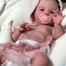 Silicone baby doll by Victoria Vihareva-Pechenkina