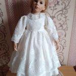 """Платье нарядное для кукол 55-65см """"Кружевной шик"""""""