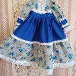 """Платье """"Колокольчик""""  для большой куклы 75-80см."""