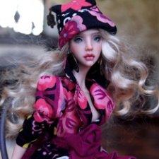 Авторская шарнирная кукла Мишель, от Елены Калягиной.